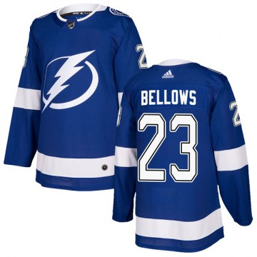 Adidas Tampa Bay Lightning Men's Brian Bellows Authentic Blue Home NHL Jersey