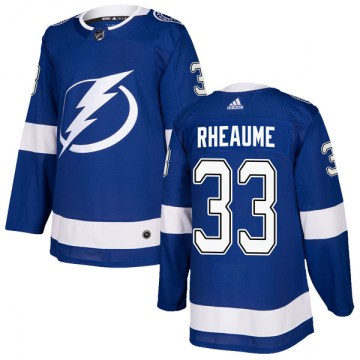 Adidas Tampa Bay Lightning Men's Manon Rheaume Authentic Blue Home NHL Jersey