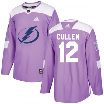 Adidas Tampa Bay Lightning Youth John Cullen Authentic Purple Fights Cancer Practice NHL Jersey